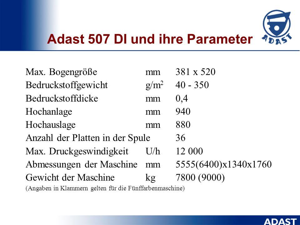 Adast 507 DI und ihre Parameter