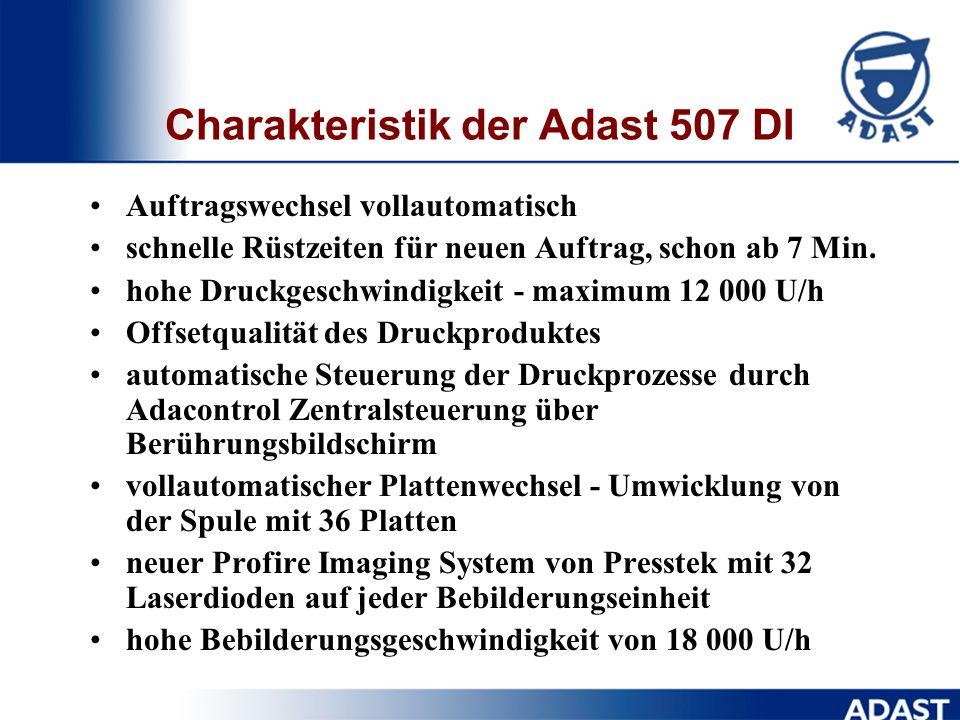 Charakteristik der Adast 507 DI