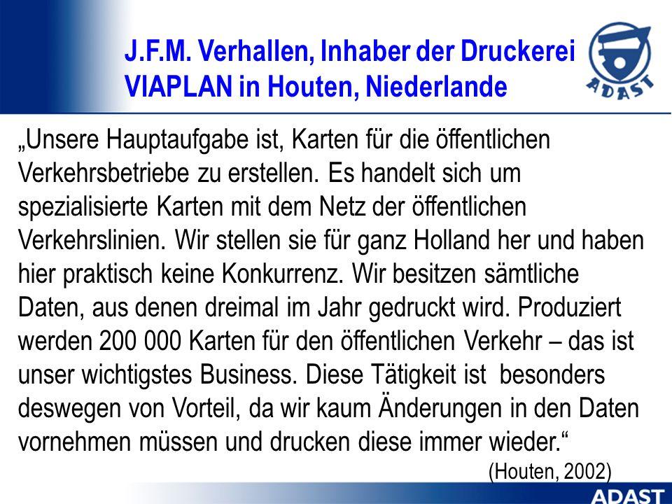 J.F.M. Verhallen, Inhaber der Druckerei VIAPLAN in Houten, Niederlande