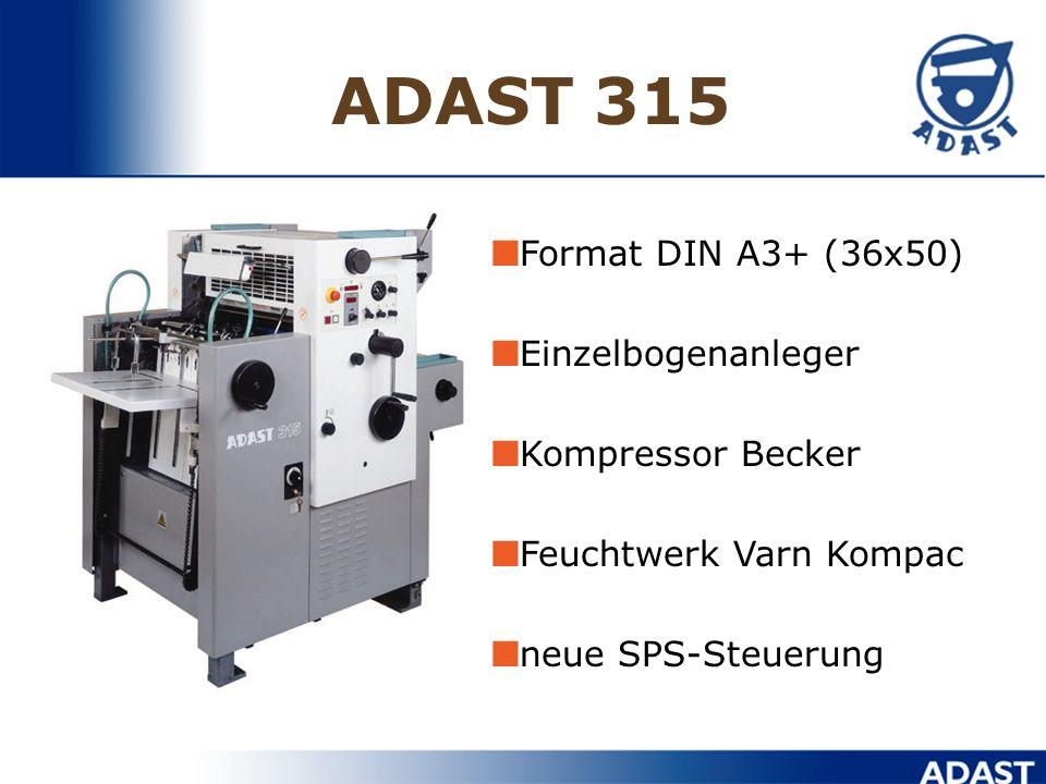 ADAST 315 Format DIN A3+ (36x50) Einzelbogenanleger Kompressor Becker