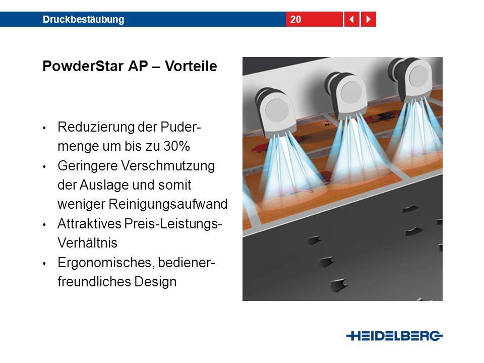 PowderStar AP – Vorteile