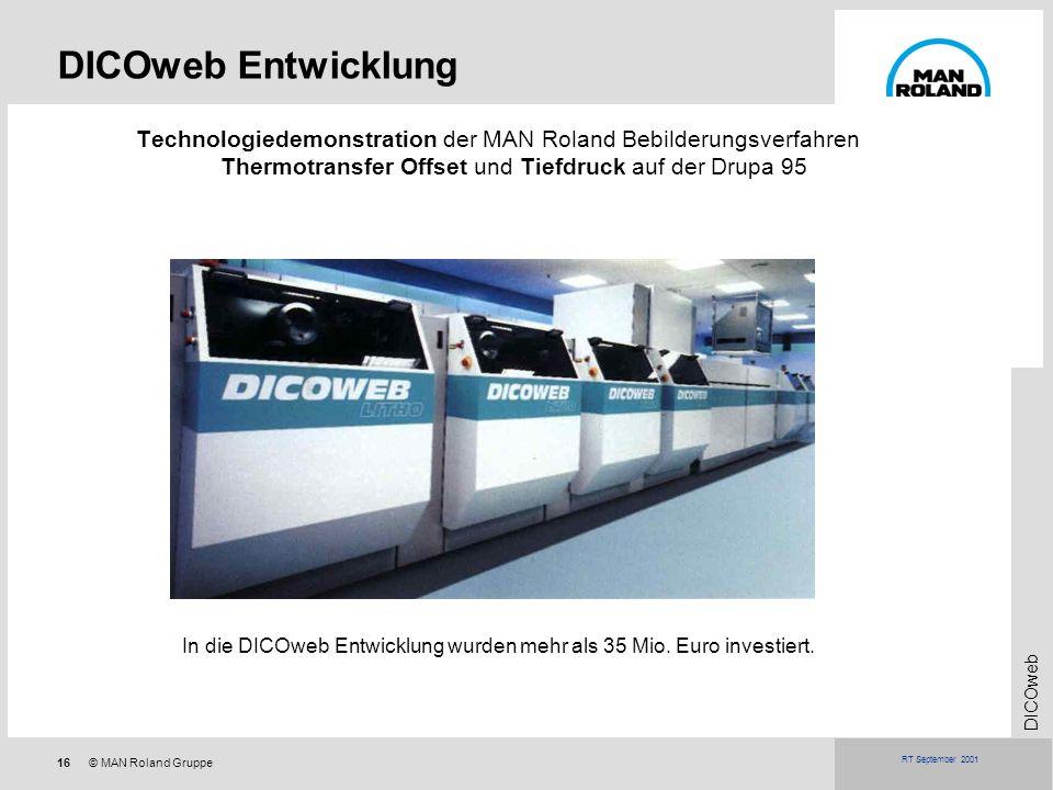 In die DICOweb Entwicklung wurden mehr als 35 Mio. Euro investiert.