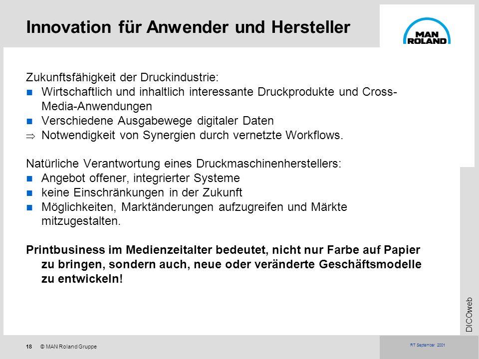 Innovation für Anwender und Hersteller