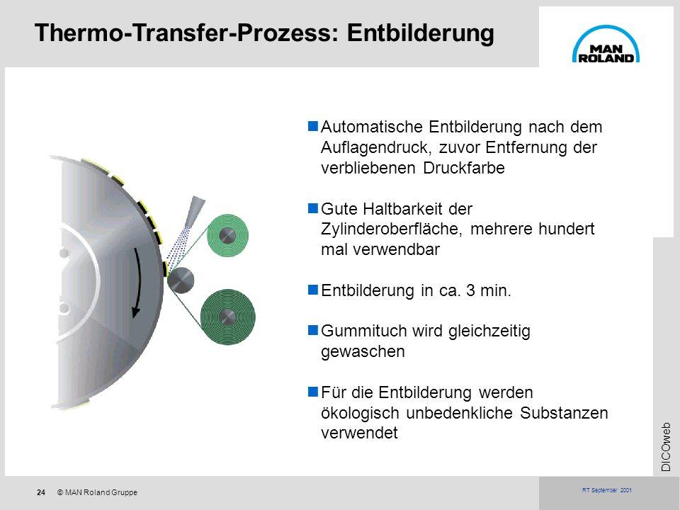 Thermo-Transfer-Prozess: Entbilderung