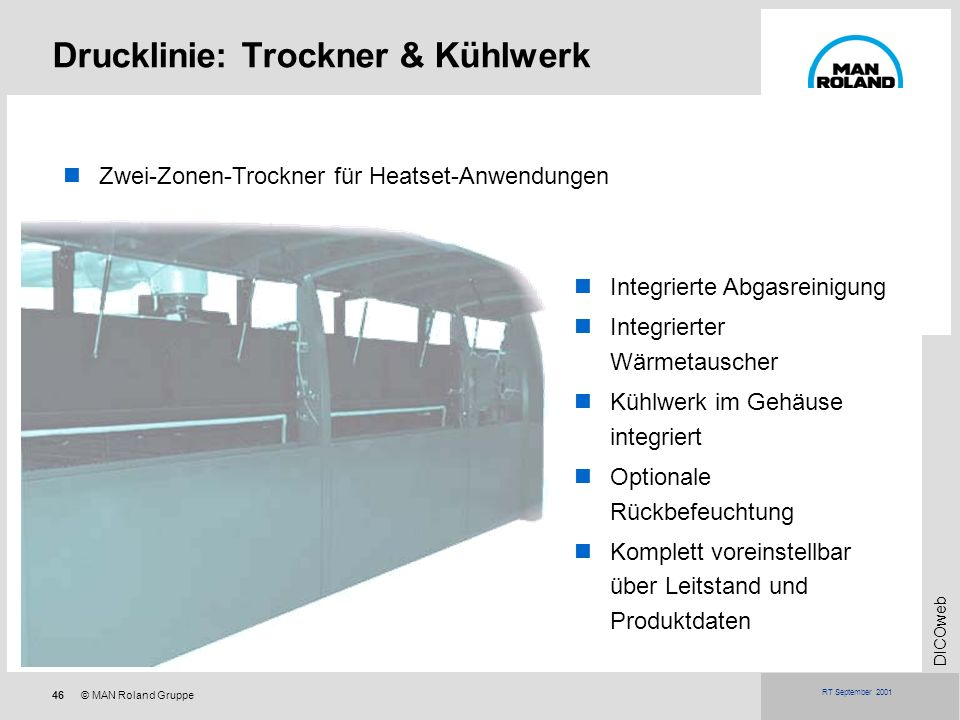 Drucklinie: Trockner & Kühlwerk