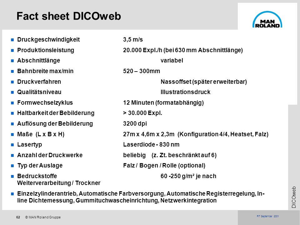 Fact sheet DICOweb Druckgeschwindigkeit 3,5 m/s
