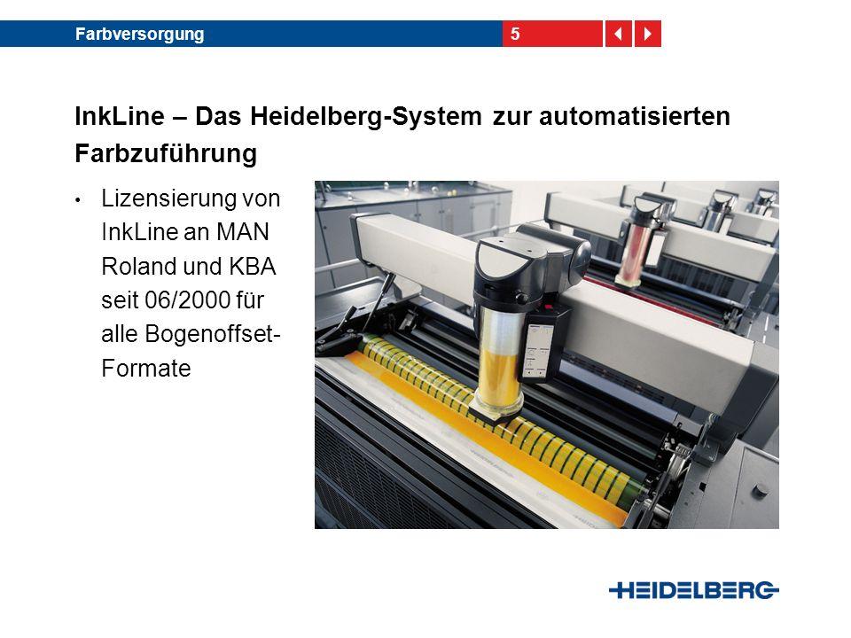 InkLine – Das Heidelberg-System zur automatisierten Farbzuführung