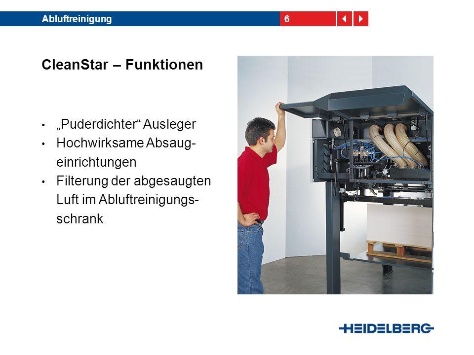 CleanStar – Funktionen