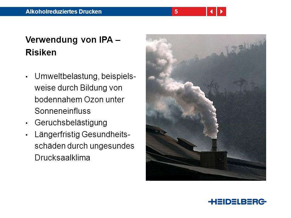 Verwendung von IPA – Risiken