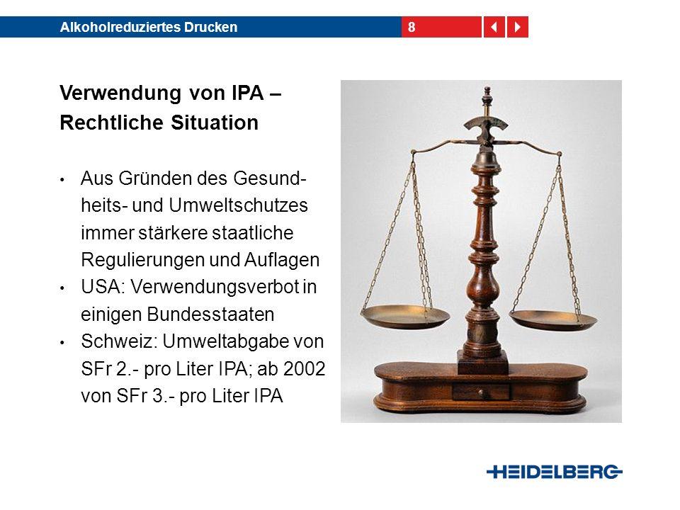 Verwendung von IPA – Rechtliche Situation