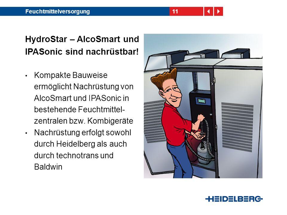 HydroStar – AlcoSmart und IPASonic sind nachrüstbar!