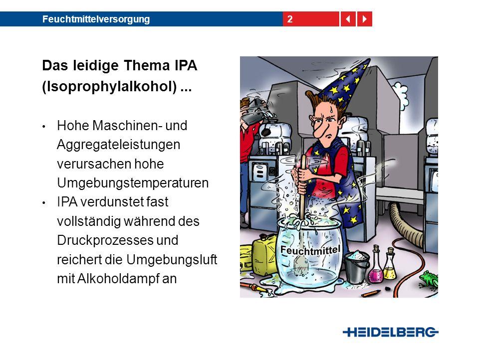Das leidige Thema IPA (Isoprophylalkohol) ...