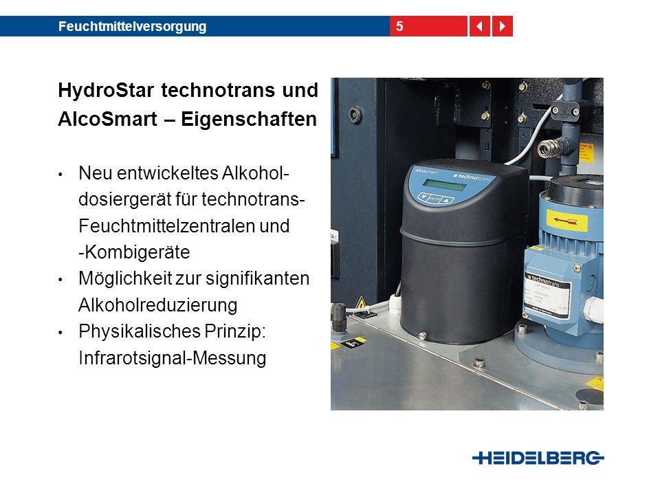 HydroStar technotrans und AlcoSmart – Eigenschaften