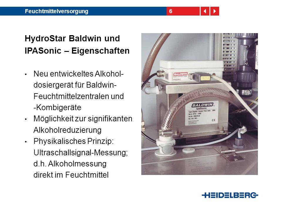 HydroStar Baldwin und IPASonic – Eigenschaften