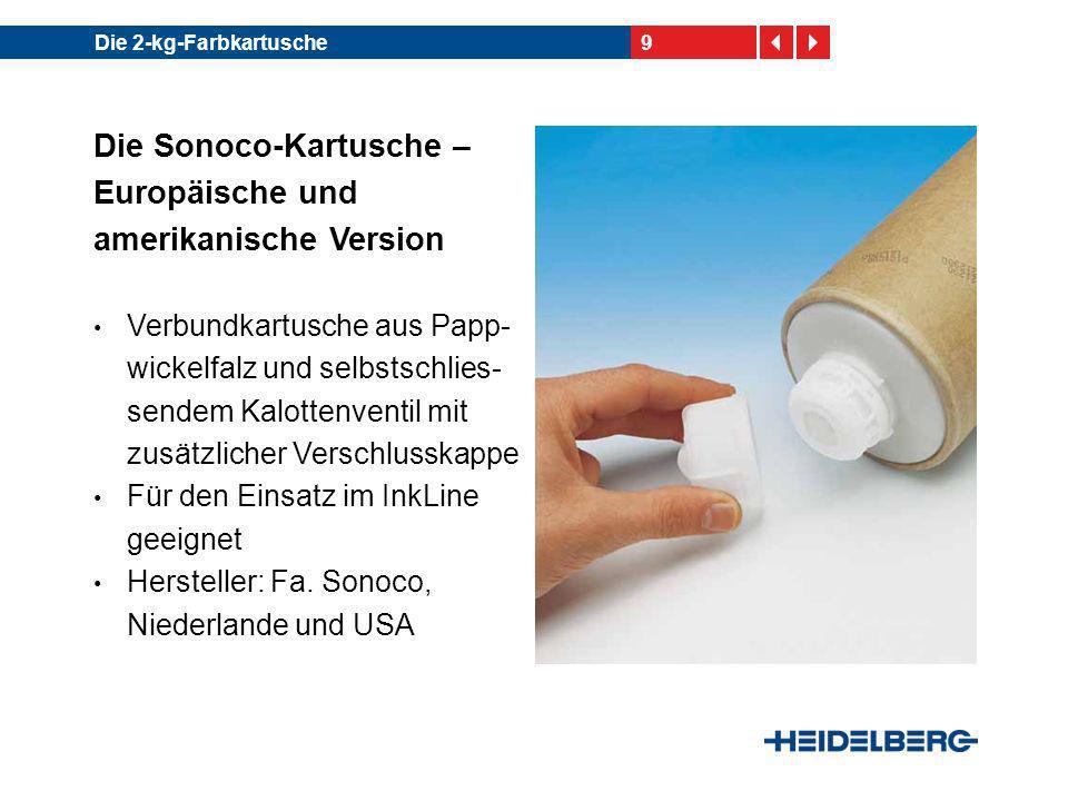 Die Sonoco-Kartusche – Europäische und amerikanische Version
