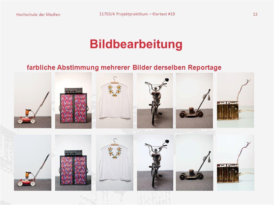 Bildbearbeitung farbliche Abstimmung mehrerer Bilder derselben Reportage