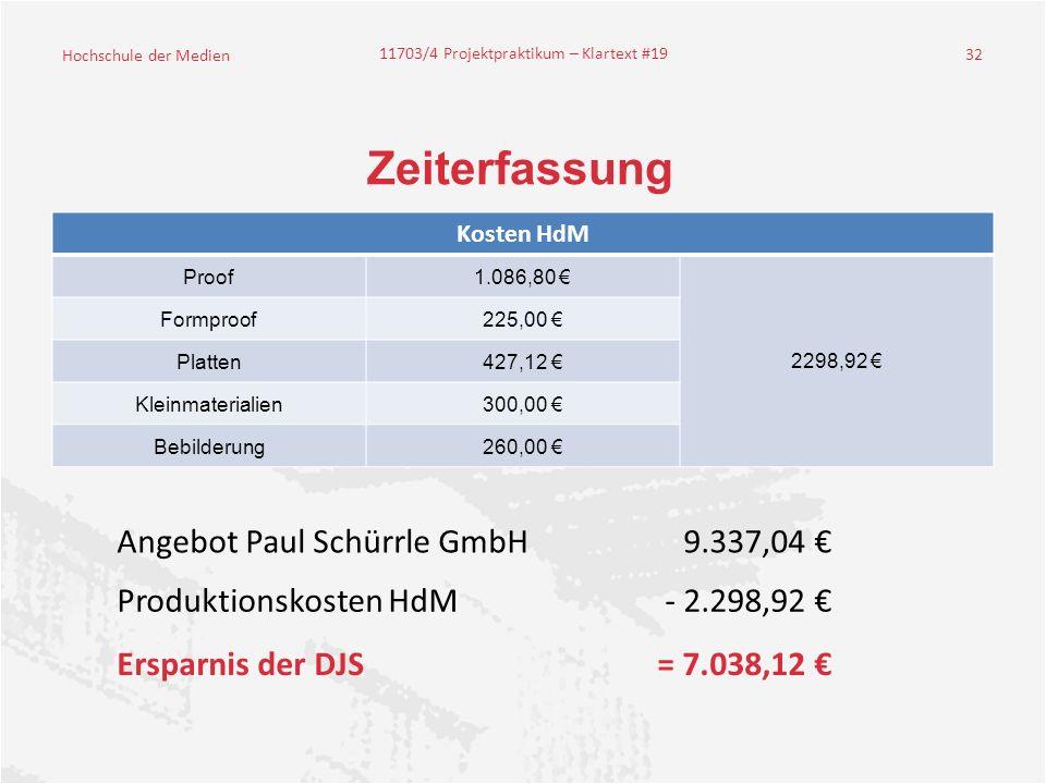 Zeiterfassung Angebot Paul Schürrle GmbH 9.337,04 €
