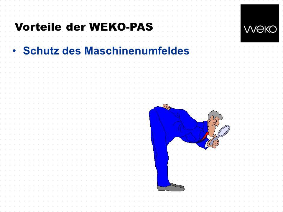 Vorteile der WEKO-PAS Schutz des Maschinenumfeldes