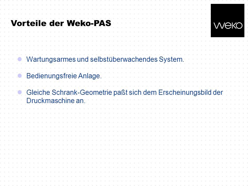 Vorteile der Weko-PAS Wartungsarmes und selbstüberwachendes System.