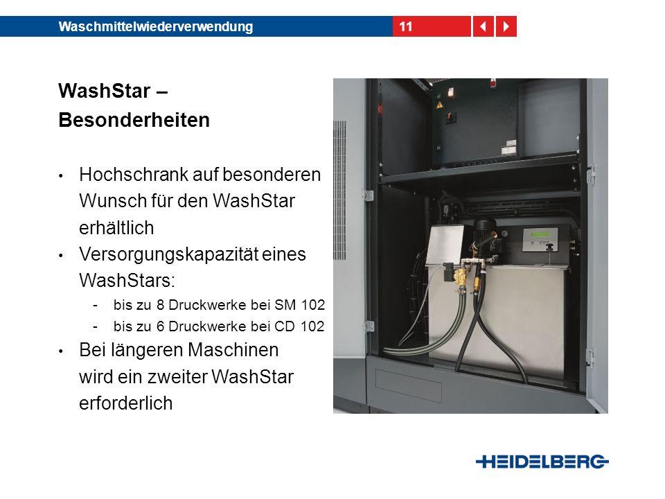 WashStar – Besonderheiten