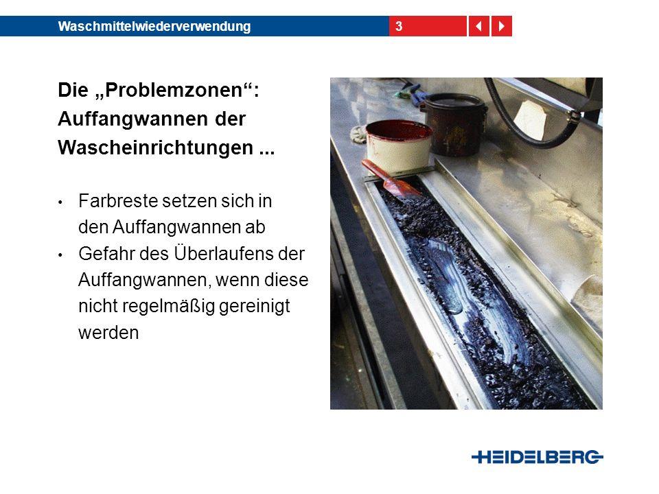 """Die """"Problemzonen : Auffangwannen der Wascheinrichtungen ..."""