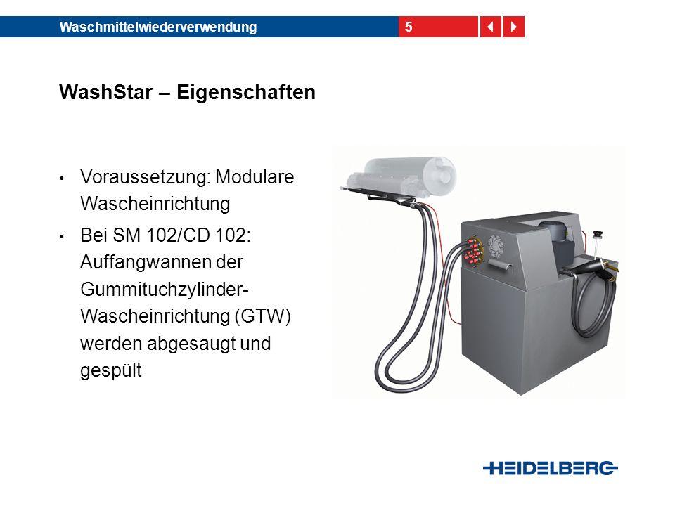 WashStar – Eigenschaften