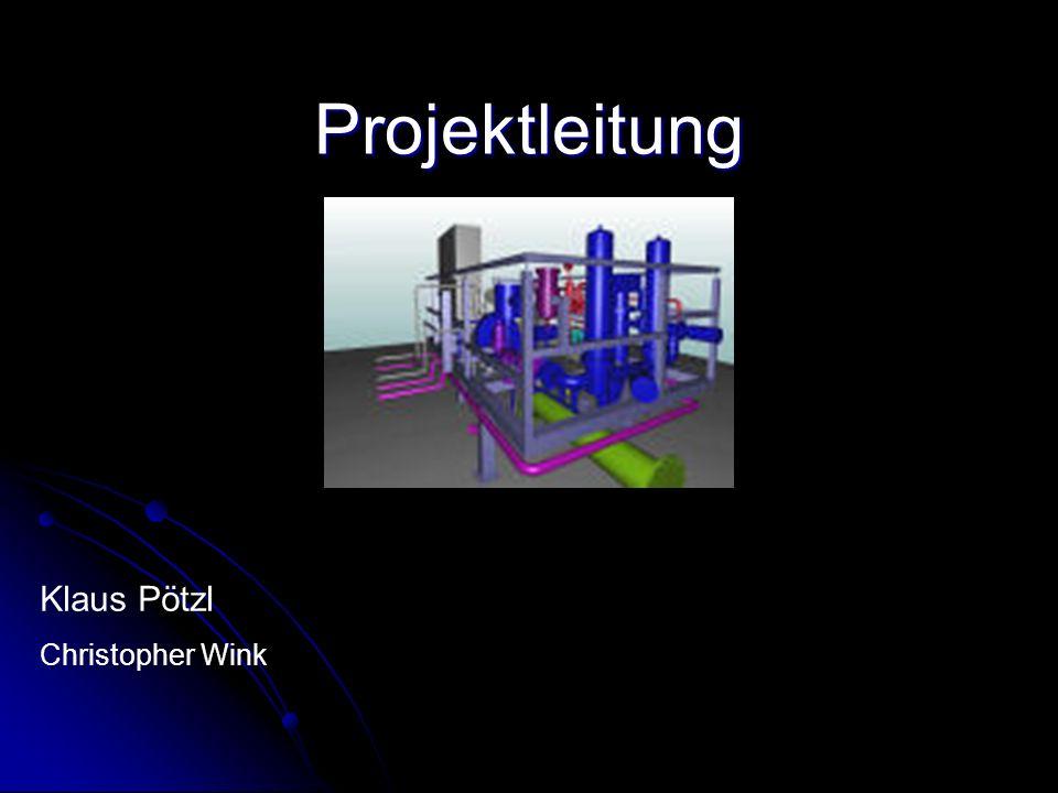 Projektleitung Klaus Pötzl Christopher Wink
