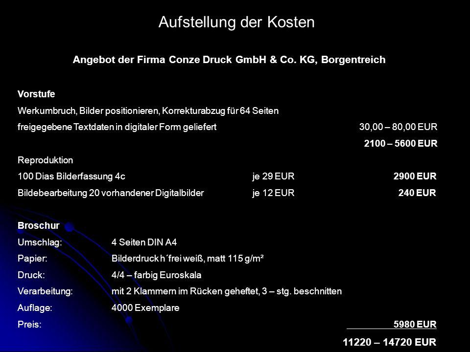 Angebot der Firma Conze Druck GmbH & Co. KG, Borgentreich
