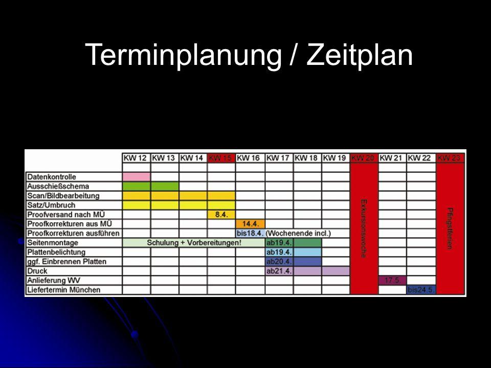 Terminplanung / Zeitplan