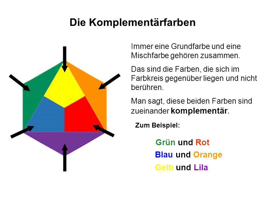 Die Komplementärfarben