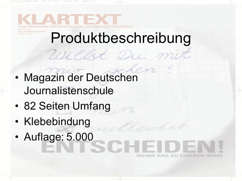 Produktbeschreibung Magazin der Deutschen Journalistenschule