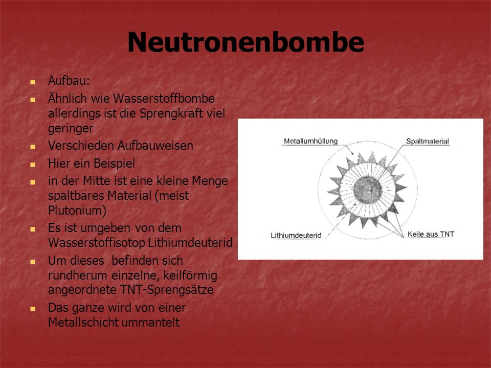 Neutronenbombe Aufbau: