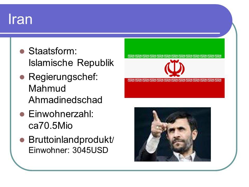 Iran Staatsform: Islamische Republik