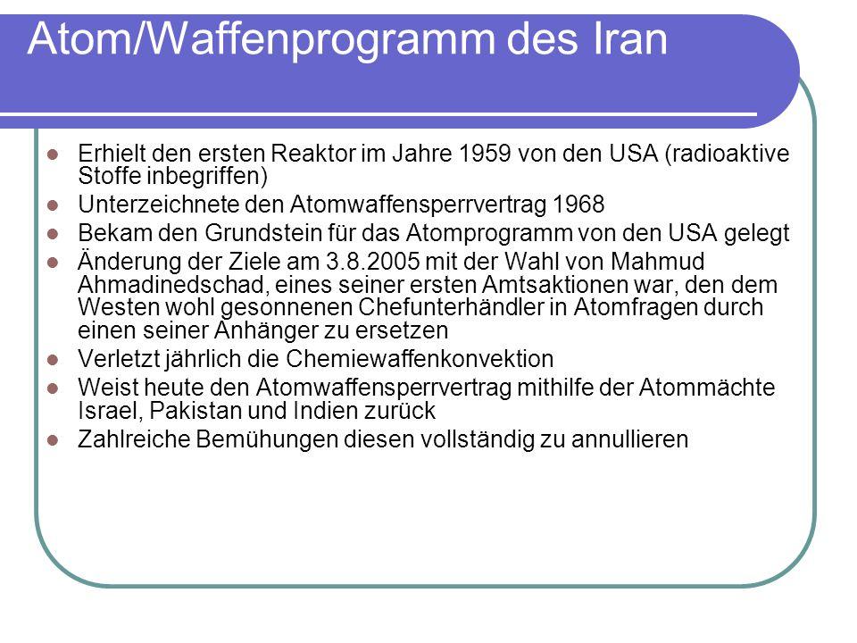 Atom/Waffenprogramm des Iran