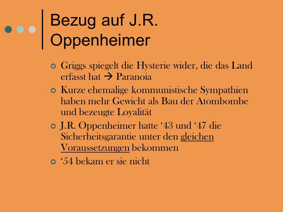 Bezug auf J.R. Oppenheimer