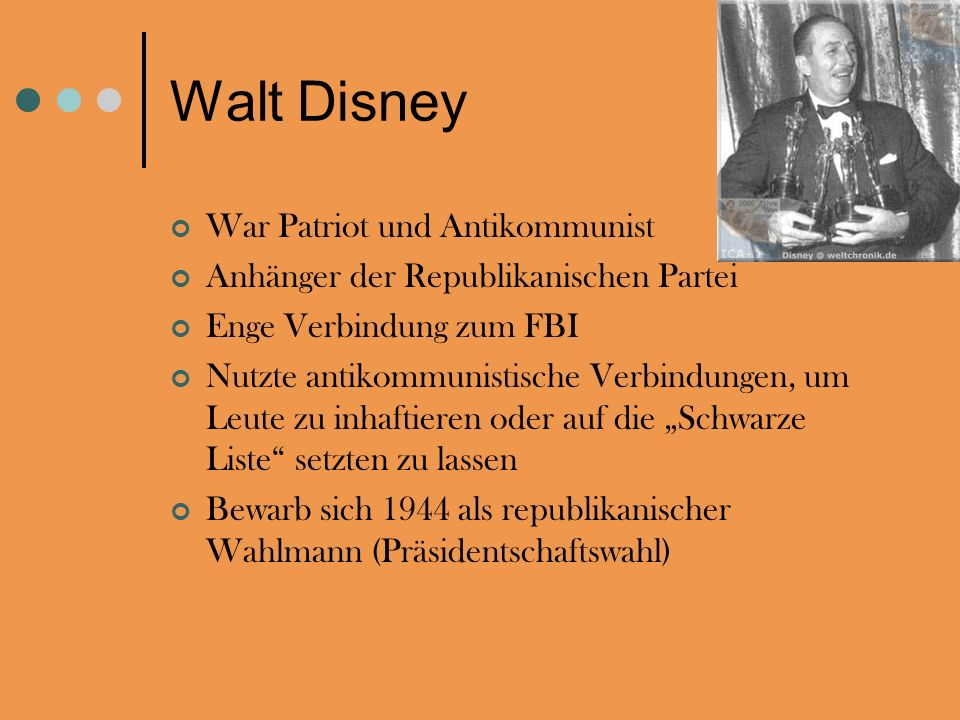 Walt Disney War Patriot und Antikommunist