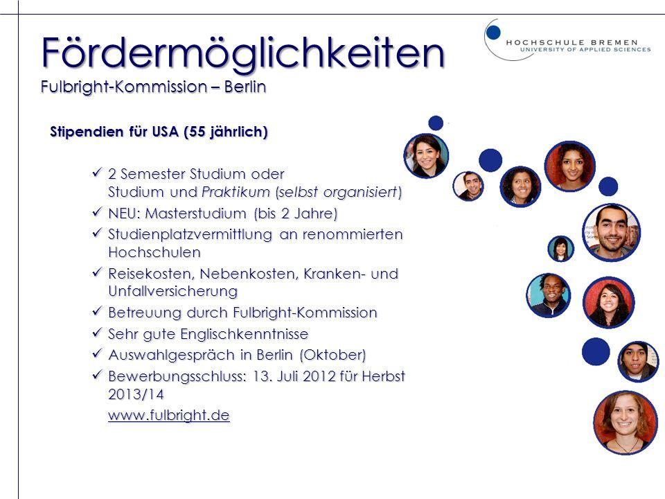 Fördermöglichkeiten Fulbright-Kommission – Berlin