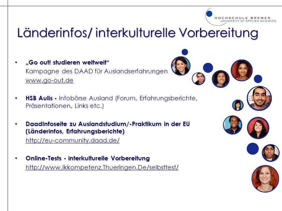 Länderinfos/ interkulturelle Vorbereitung