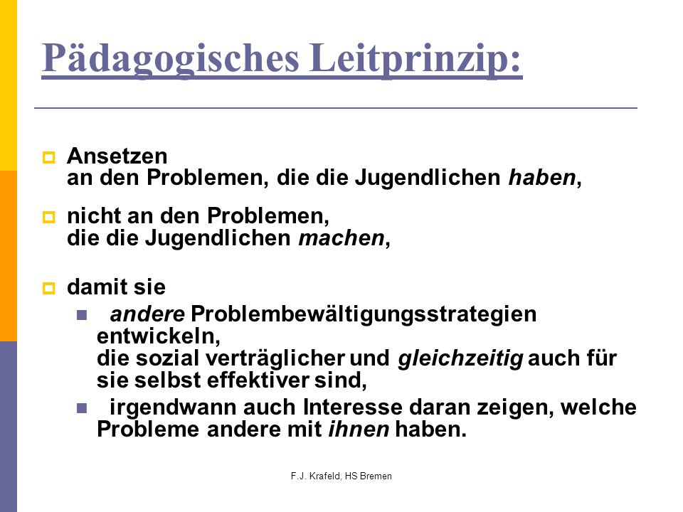 Pädagogisches Leitprinzip: