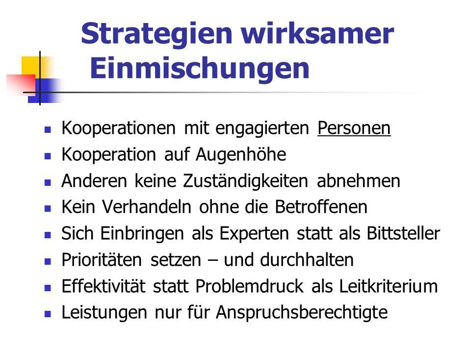 Strategien wirksamer Einmischungen