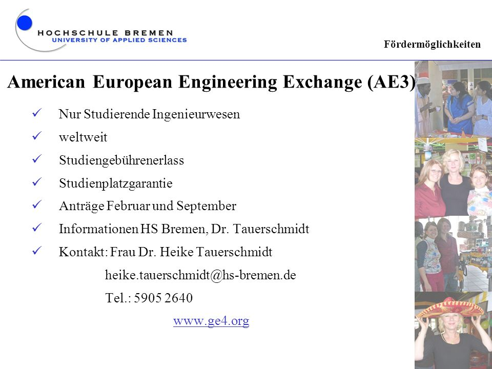 American European Engineering Exchange (AE3)