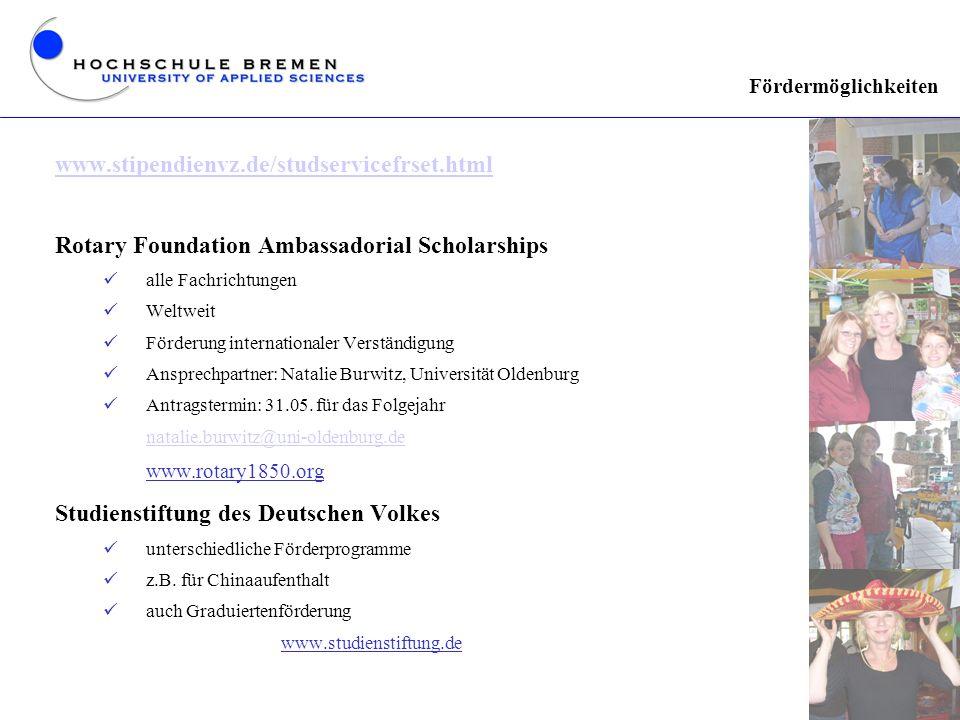 Rotary Foundation Ambassadorial Scholarships