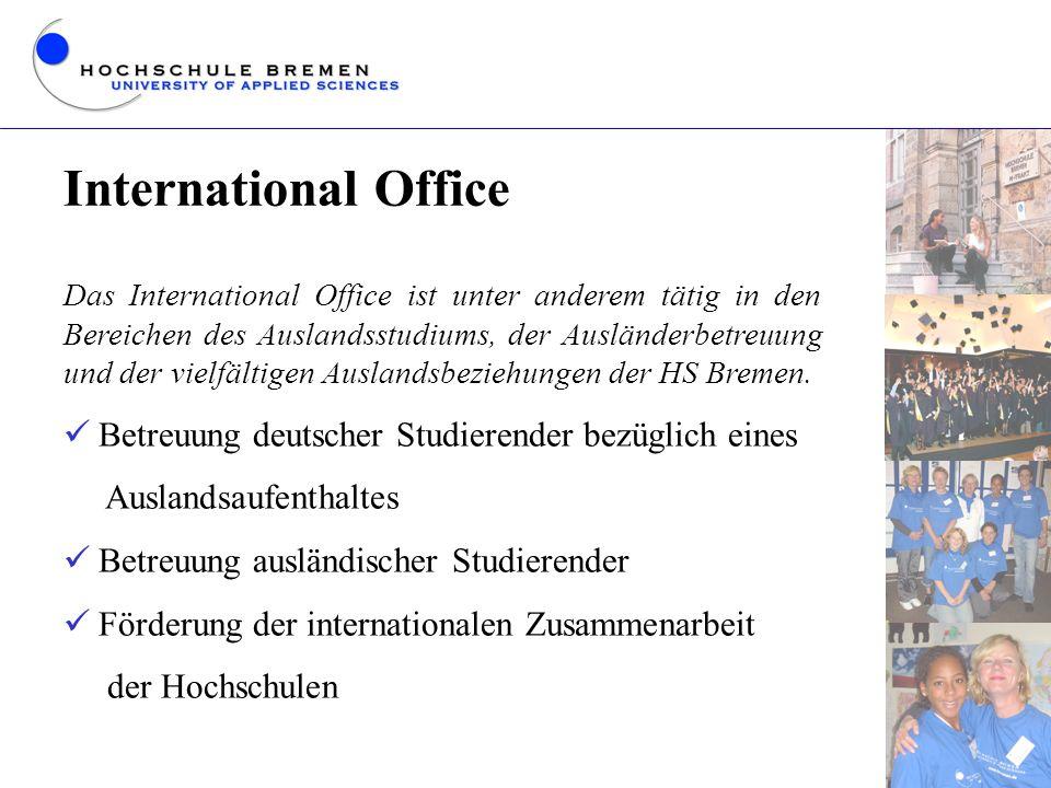 International Office Betreuung deutscher Studierender bezüglich eines