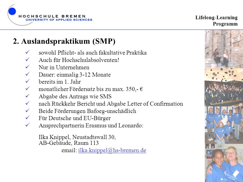 2. Auslandspraktikum (SMP)