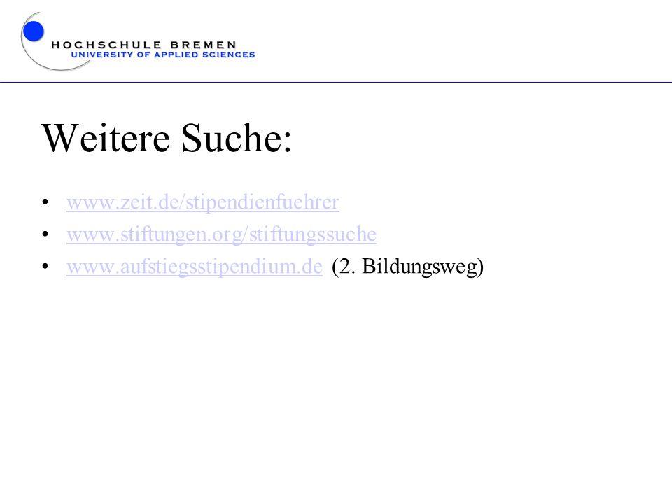 Weitere Suche: www.zeit.de/stipendienfuehrer