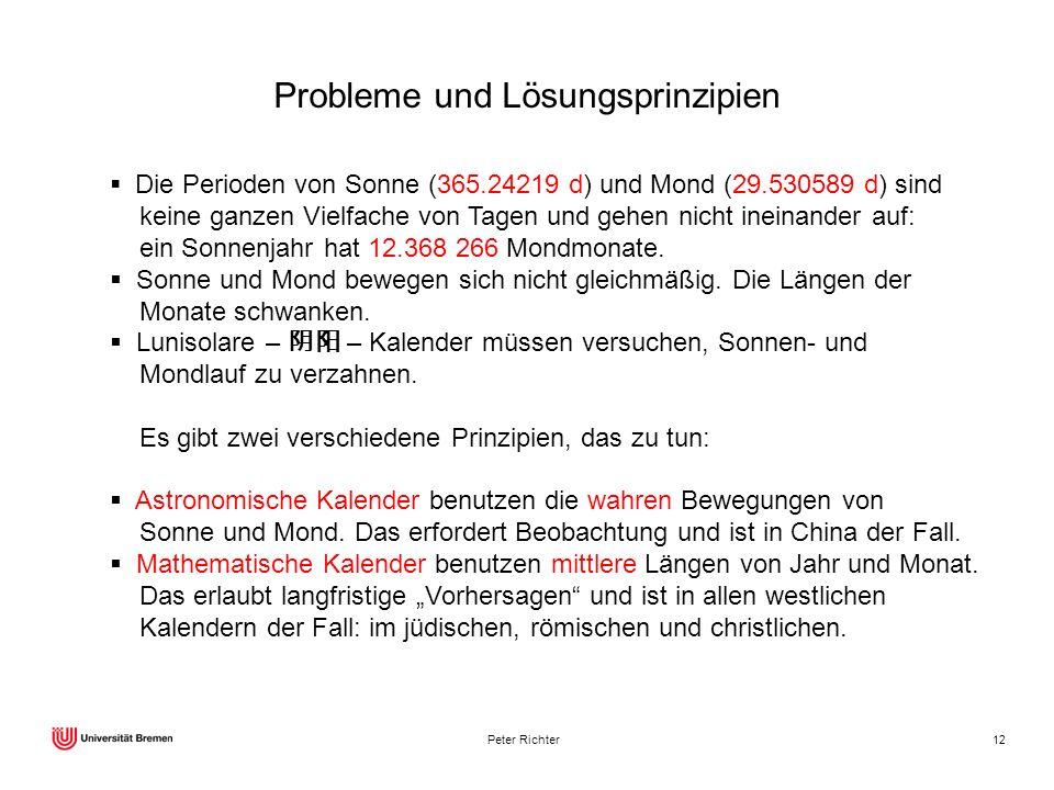Probleme und Lösungsprinzipien