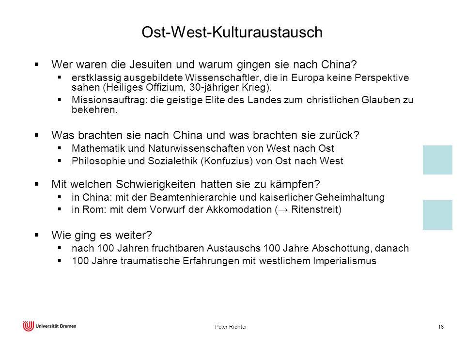 Ost-West-Kulturaustausch
