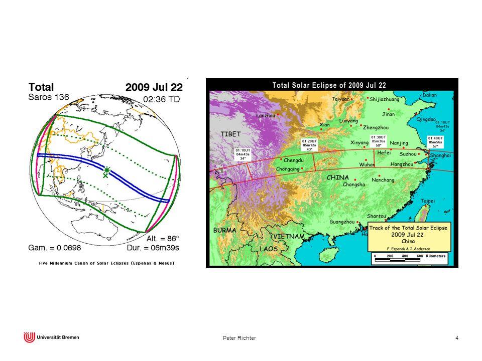 Sonnenfinsternis am 22. Juli 2009, längste Totalität aller Finsternisse im 21. Jahrhundert.