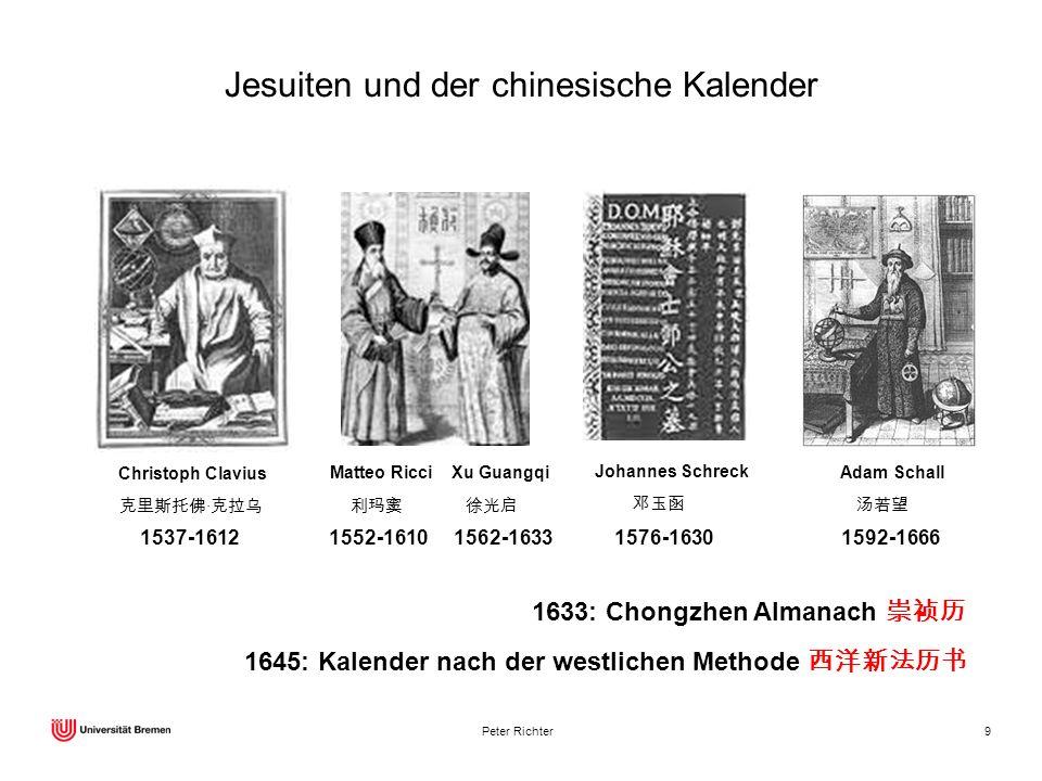 Jesuiten und der chinesische Kalender