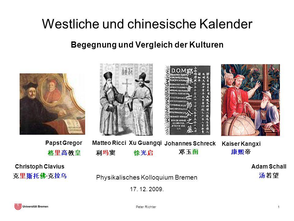 Westliche und chinesische Kalender